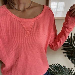 FREE PEOPLE pink long sleeve